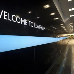 led wall lewisham shopping centre