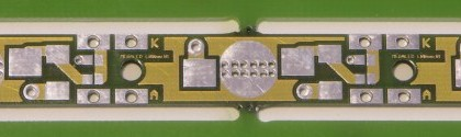 power led circuit board designers - this one FR4 with thermal vias.