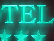 Edge light sign green