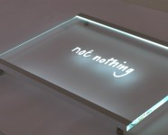 Slimline Edge Lit Glass Signs