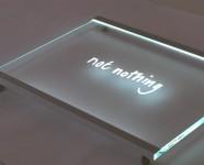 Slimline Edge Lit Glass Signs