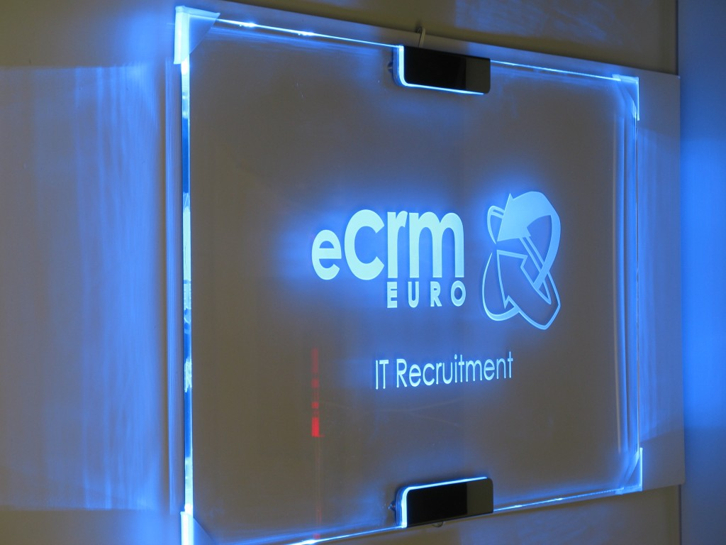 Wall Mounted Edge Lit Glass Signs Nano