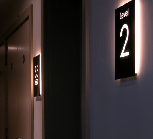 Backlit Glass Signs